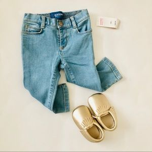 Baby girl Skinny jeans + moccasins